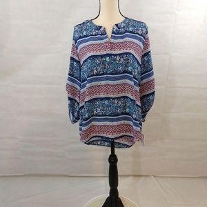 Pink Republic Tunic Blouse - Large - Blue NWT